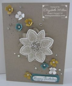 Stampin Up Bloom with hope stamp set, gorgeous grunge stamp set, petal potpourri stamp set