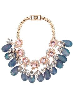 Mawi Flower gemstone necklace. You can check out more gemstones at http://www.wantering.com/trends/gemstones/
