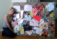 Easy, Humongous, DIY French Memo Board.  Great for dorms......