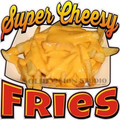 """14"""" Cheese Fries Cheesy French Fry Concession Trailer Food Truck Sign Decal #SolidVisionStudio"""