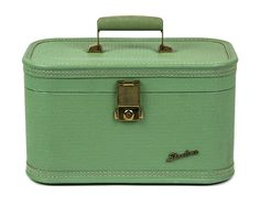 Vintage Mint Green Cosmetic Case / Starline Train by Retroburgh