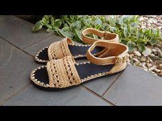 Crochet Sandals using Flip Flop Soles   Sewrella - YouTube