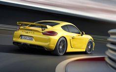 Porsche Cayman GT4 Amarillo Trasera  fx
