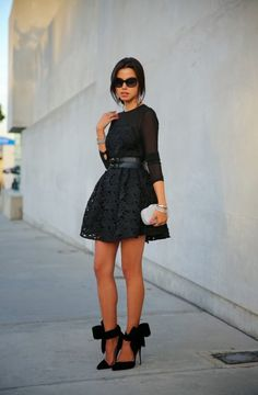 4. Silver Clutch With Lace Dress 2017 Street Style