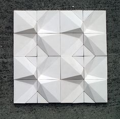 The Contrast is made from concrete and ceramic. I designed the tile to inside and outside places.
