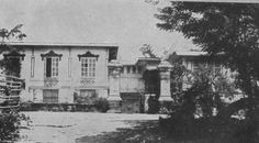 The Aguinaldo Mansion in Kawit, Cavite as it looked in Emilio Aguinaldo, Treaty Of Paris, The Spanish American War, Freemasonry, Pinoy, Filipino, Balcony, Philippines, 19th Century