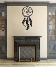Wall Vinyl Decal Indian Dream Catcher Feathers Bedroom Decor Sticker Mural