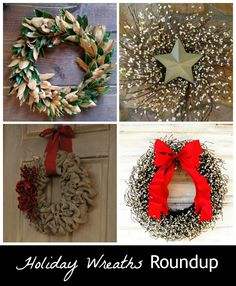 Bring on the decorated doors ~ A roundup of beautiful holiday wreaths