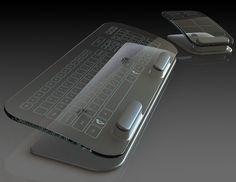mouse keyboard Multi Touch Tastaur und Maus aus Glas