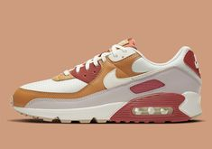 The Nike Air Max 90 Goes Autumnal With Pumpkin Spice-Like Rugged Orange Air Max 90, Nike Air Max, Air Max Sneakers, Sneakers Nike, Brown Makeup, Onitsuka Tiger, Smooth Leather, Converse, Autumnal