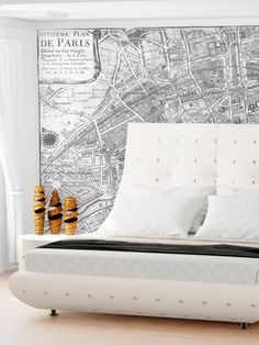 Map of Paris in 1705 from Toddler Furniture: Up to 70% Off on Gilt