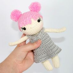 This mini crochet doll can be in an afternoon! Perfect last minute gift! #crochetdoll #freecrochetpattern #crochettoy