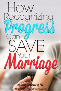 Conflict may be unavoidable in marriage, but you can look at the progress you've made within your relationship. It just might save your marriage!