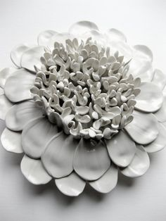 No. 1 dahlia wall sculpture by DillyPad on Etsy
