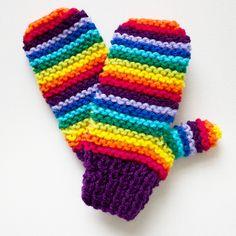 Purple Rainbow Pixie Mittens - Colourful Kid's Mittens - Rainbow Childrens Mitts £14.00