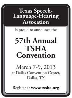 Texas Speech-Language-Hearing Association's 57th Annual Convention