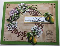 Featuring Sending Kindness digital stamp set all new June release from Graciellie Design. Details on my blog at http://cardsandpaperfun.blogspot.com/2017/06/pear-blossom-wreath.html