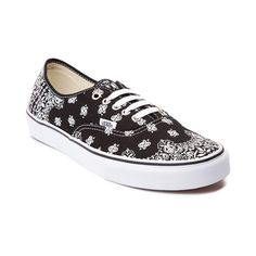 Look rad to the bone with the new Authentic Bandana Skate Shoe from Vans! Kick it in the Authentic Bandana Skate Shoe, sporting a durable canvas upper with contrasting bandana prints. Available only online at Journeys.com! Available for shipment in July; Pre-order yours today!