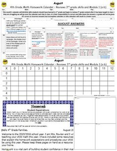 Eureka And Engage Ny Th Grade Hw Calendars And Resources Bundle
