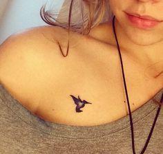 Small blue hummingbird tattoo Insta@november.blue