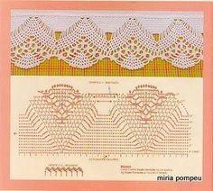 crochet - bicos - barrados - edgings - Raissa Tavares - Picasa Web Albums