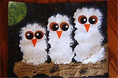 Owl crafts for kids, teachers, preschoolers and adults to make for gifts, home decor and for art class. Free, fun and easy owl craft ideas and activities. children's owl craft ideas with images. Kindergarten Art, Preschool Crafts, Kids Crafts, Craft Kids, Family Crafts, Craft Art, Animal Crafts For Kids, Art For Kids, Baby Owls