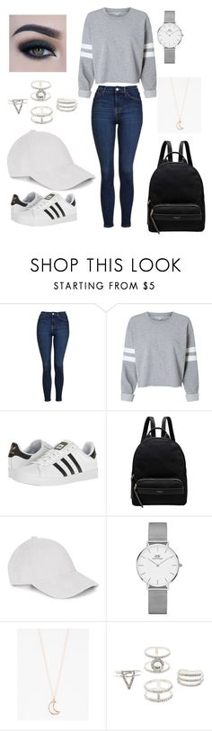 """Untitled #64"" by lucia-xd-1 on Polyvore featuring Topshop, adidas, Radley, Le Amonie, Daniel Wellington, Full Tilt, Charlotte Russe and Too Faced Cosmetics"