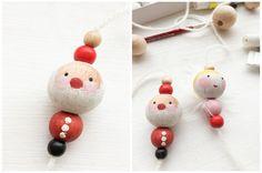 Weihnachtsanhänger aus Perlen Weihnachtsmann Engel Verpackungsidee