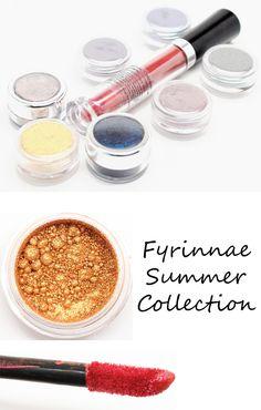 Fyrinnae Summer Eyeshadows Review swatches - Phyrra.net