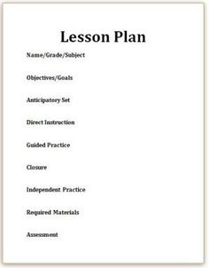 Here's How to Write A Reading Lesson Plan