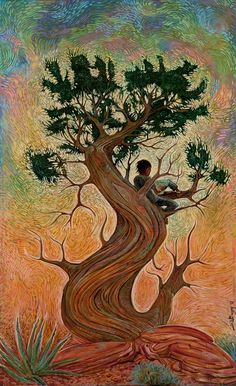 """Shonto Begay's """"Grandfather Tree of Knowledge"""""""