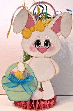Bunny Crafts, Easter Crafts, Easter Paintings, Handmade Scrapbook, Paper Flowers Craft, Diy Ostern, Easter Parade, Cute Clipart, Craft Show Ideas