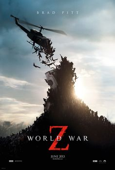 Brad Pitt: 'World War Z' Trailer & Poster!: Photo Check out this newly released poster and trailer from Brad Pitt's upcoming flick World War Z! Here's a synopsis of the film: United Nations employee Gerry Lane… All Movies, Scary Movies, Great Movies, Movies To Watch, Movies Online, Comedy Movies, Action Movies, Brad Pitt, Horror Movie Posters