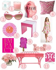 Pink is a great color to pop into your home or wardrobe because of its versatility. It can be chic and soft or bold and playful!