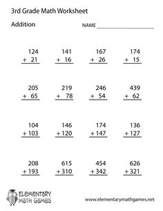 best rd grade math worksheets images  rd grade math worksheets  learn and practice addition with this printable rd grade elementary math  worksheet rd grade math