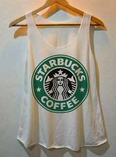 Starbucks Coffee Logo printed Pop Punk RockTank Top Vest Ladies Freesize