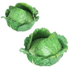 French  ~ 1750 ~Cabbage Head Pair of Trompe L'Oeil Faïence Terrines | From a unique collection of antique and modern ceramics at http://www.1stdibs.com/furniture/dining-entertaining/ceramics/