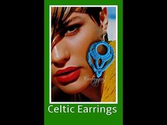Celtic crochet earrings - YouTube