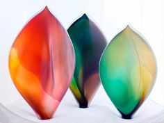 Glass sculptures from Aspects in Kings Park