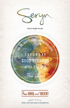 I love watercolor when it's used as a design element.  http://www.serynsound.com/