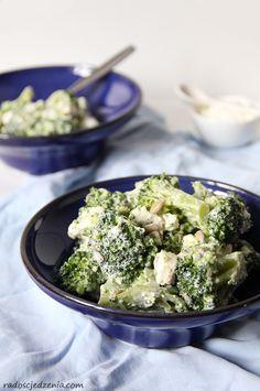 Sałatka z brokułem i serem feta Feta, Potato Salad, Potatoes, Cooking, Ethnic Recipes, Kitchen, Potato, Brewing, Cuisine