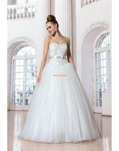 Princesse Sans manches Crystal détaillant Robes de mariée 2014