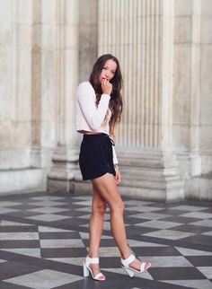 Monochrome crop and shorts
