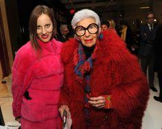 Iris Apfel Filmmaker Liz Goldwyn (L) and fashion icon Iris Apfel attend the Ralph Rucci fashion show during Mercedes-Benz Fashion Week Fall 2014 on February 9, 2014 in New York City.