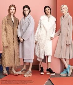 Love love love!!! #IanaGodnia #DashaGold #CarlyMoore & #AnnaPiirainen by #Driu & #Tiago for the #WSJ September 2014