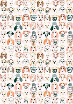 22 ideas dogs wallpaper pattern art prints for 2019 Dog Wallpaper, Pattern Wallpaper, Iphone Wallpaper, Iphone Backgrounds, Interior Wallpaper, Art Et Illustration, Pattern Illustration, Design Illustrations, Dog Pattern