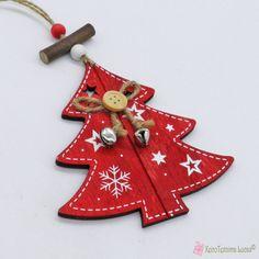 Κόκκινο ξύλινο έλατο με κουδουνάκια Wooden Products, Xmas Tree, Christmas Ornaments, Decoration, Holiday Decor, Home Decor, Decor, Decoration Home, Christmas Tree