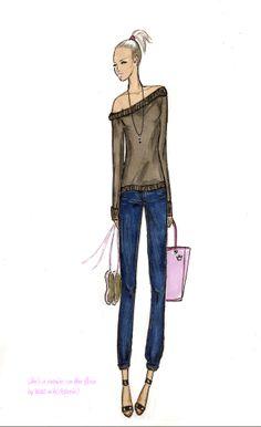 fashion sketch, illustration, ballet dancer, girls