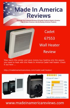 Stay warm this winter and save money buy heating only the spaces you need to heat with this Made In America Cadet wall heater. Check it out here . American Manufacturing, Made In America, Stay Warm, Saving Money, Spaces, Winter, Check, Wall, How To Make