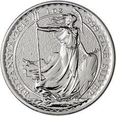- 2015 Great Britain Silver Britannia £2 - 1 oz - Brilliant Uncirculated Condition - Actual Silver Weight: 1 Troy oz